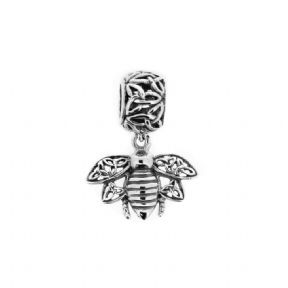 Outlander Inspired Highland Bee Silver Bead Charm 1116
